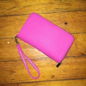 Hot Pink Wristlet Wallet 🎀